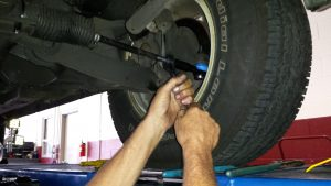 tie rod adjustment during a wheel alignment
