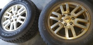 ford expedition front wheel discolored from brake caliper siezed